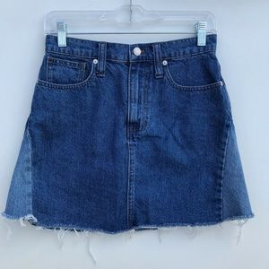 Madewell Rigid Denim A-Line Mini Skirt #1939